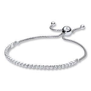 PANDORA sparkling strand sterling sliver bracelet.